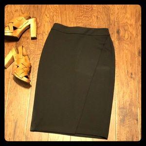 Black New York & co midi skirt